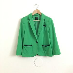 The Limited Green Button Lined Blazer Stretch